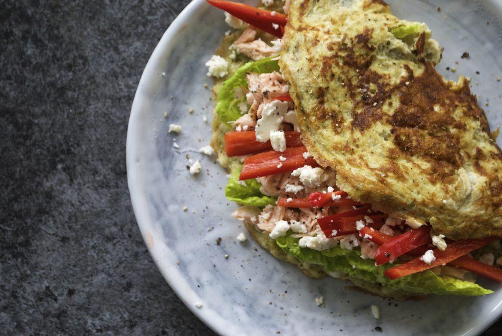 DSC_1466 omelet med laks. Camille Maja