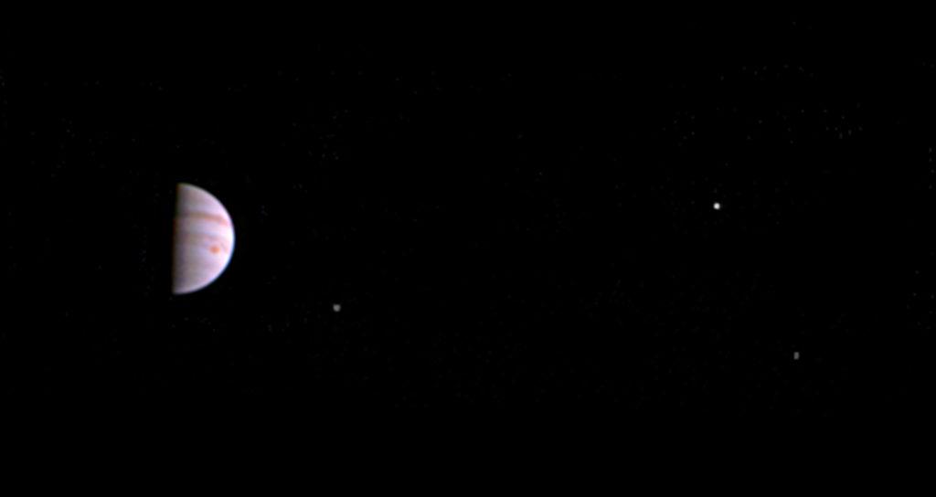 Juno har sendt de første billeder hjem af Jupiter. (Foto: Polfoto)