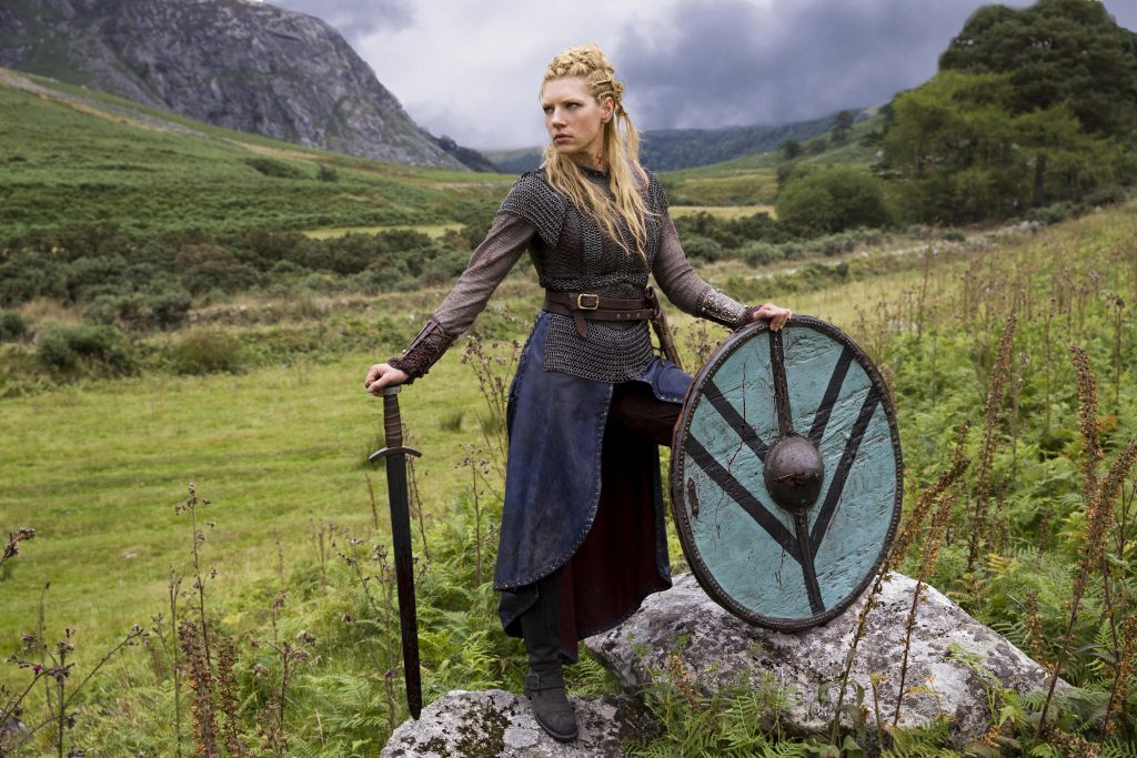 """Vikings"" Season 2 2014 Lagertha Katheryn WInnick is the first wife of Ragnar Lothbrok Photo by Picturelux. Supplied by insight media"