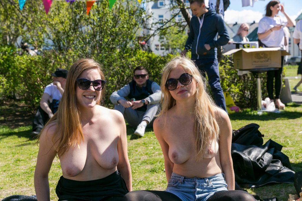 Free the nipple-kampagne i Island. (Foto: All Over)