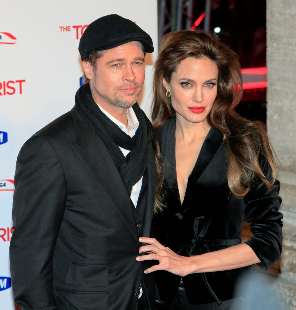 Brad Pitt and Angelina Jolie at the Rome premiere for The Tourist, Rome, Italy. 15/12/2010