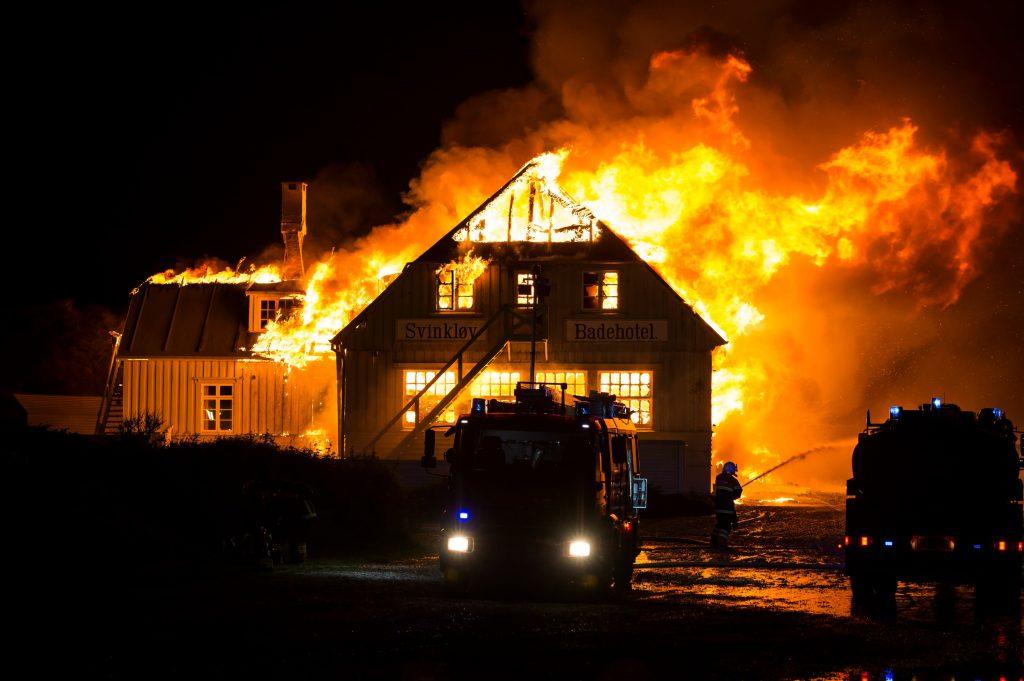Svinkløv Badehotel brændt ned. (Foto: Polfoto)