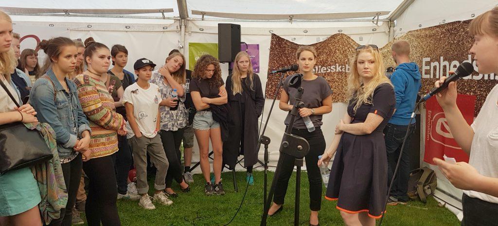 Feminismedebat på Ungdommens Folkemøde 2016 med Pernille Skipper og Sanne Søndergaard (Foto: Camilla Falkenberg)