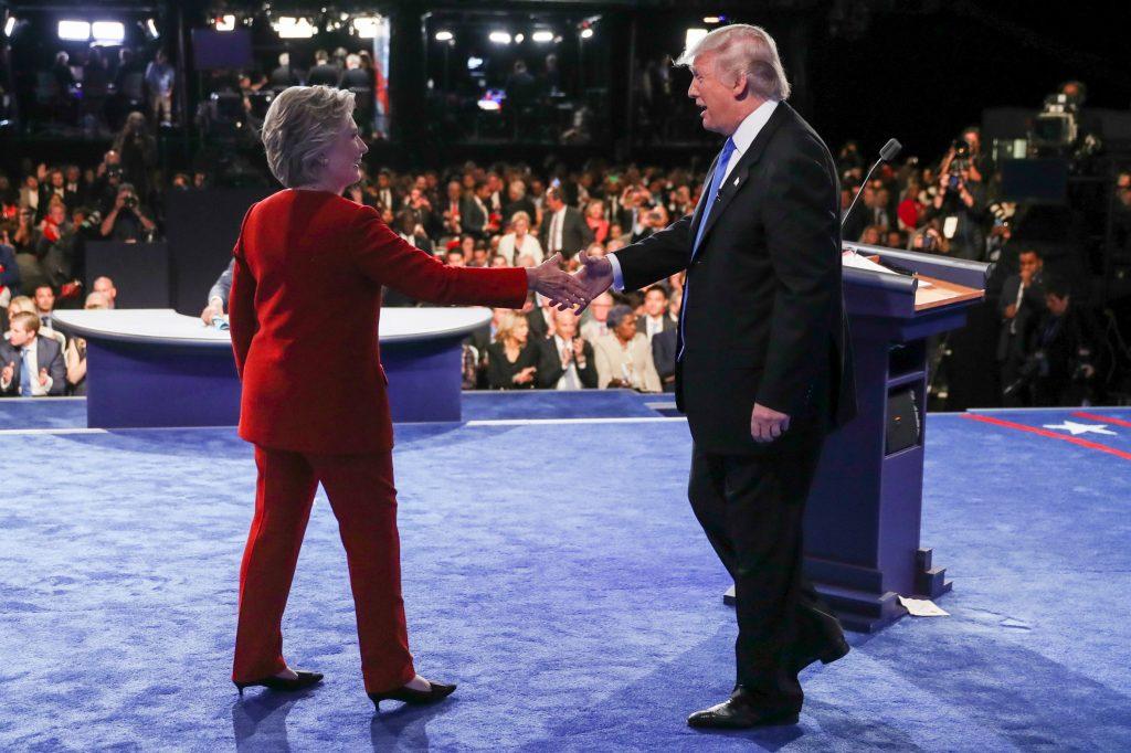 Efter nattens kandidatdebat: Clinton vandt første runde. (Foto: Polfoto)