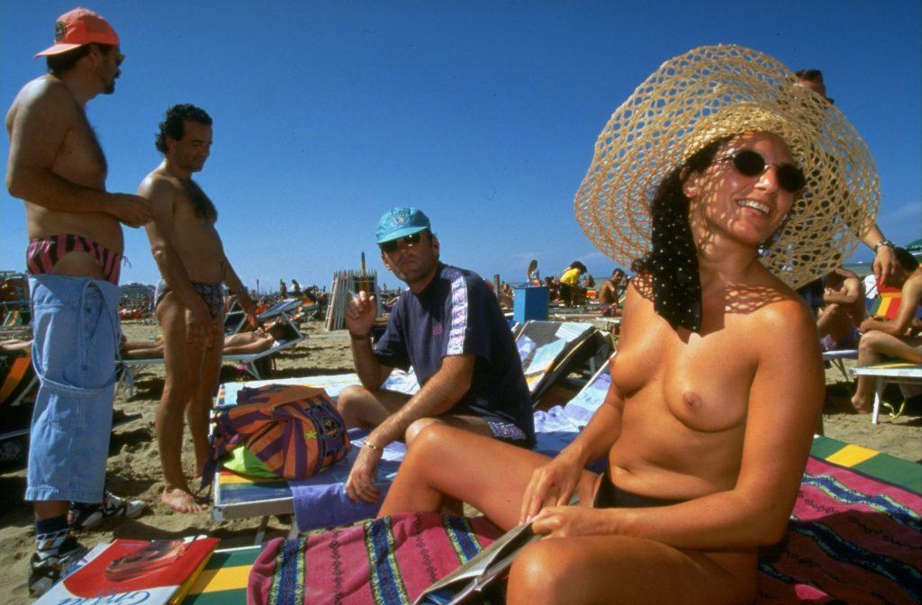 Stranden i Rimini, Italien.