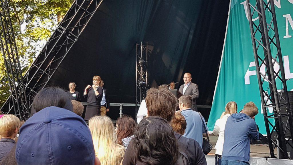 Lars Løkke på Ungdommens Folkemøde 2016. (Foto: Camilla Falkenberg)