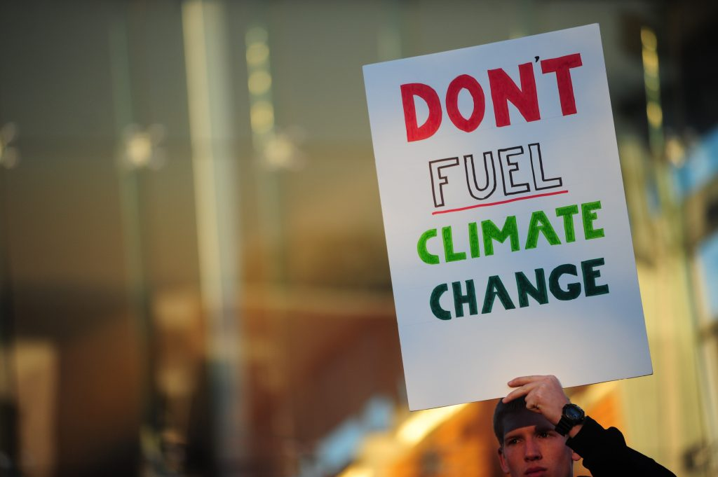 Anti-fracking protest, Vancouver, Canada - 29 Oct 2013