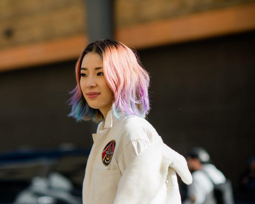 Irene Kim koreansk beautyb logger estee lauder streetstyle outfit