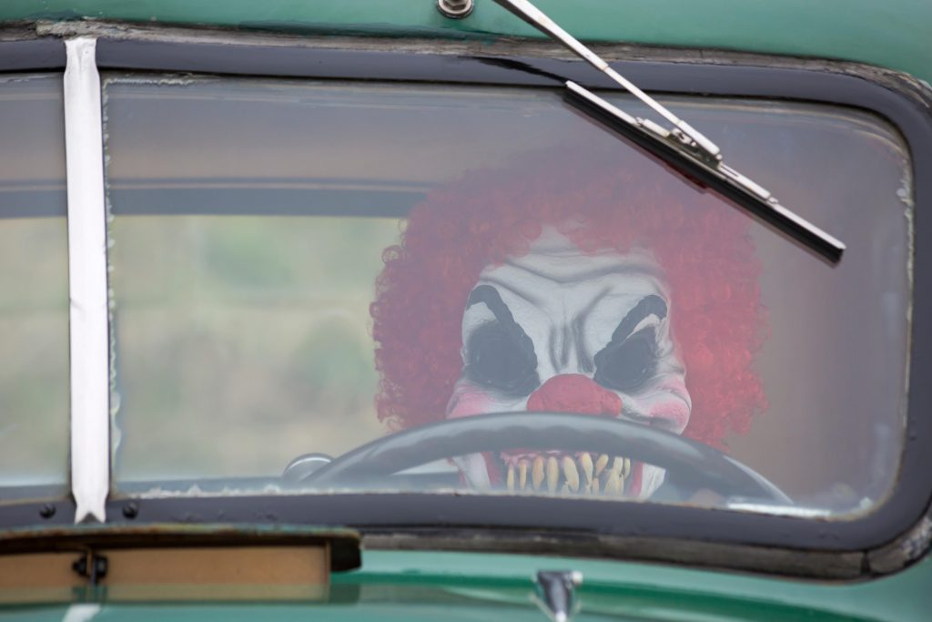I 1980erne blev folk bange for klovne, der kørte rundt i varevogne og forsøgte at kidnappe børn. Foto: All Over)