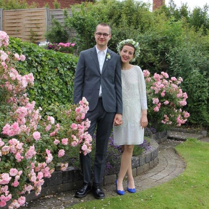 Mette og Josef blev gift kort efter Mette blev meldt rask. (Foto: Privat)