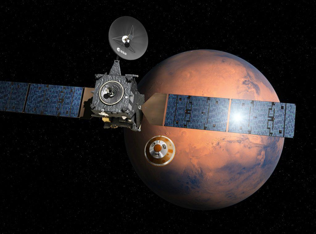 Første europæiske rumfartøj lander på Mars