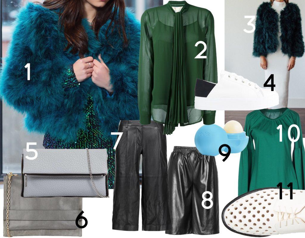 solange-knowles-groen-pels-jakke-outfit