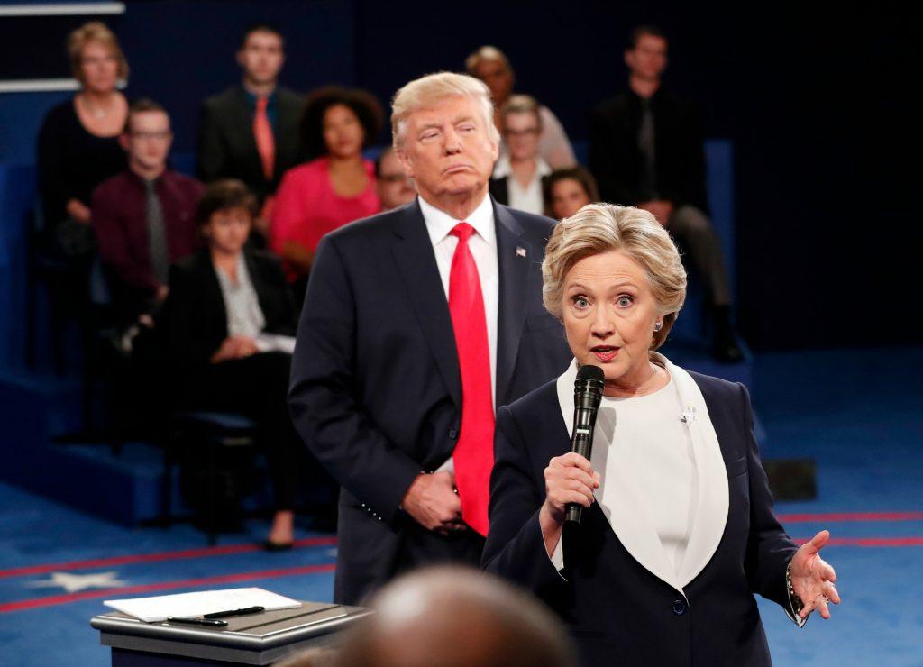 En beskidt debat sluttede helvedesuge for Trump. (Foto: Polfoto)