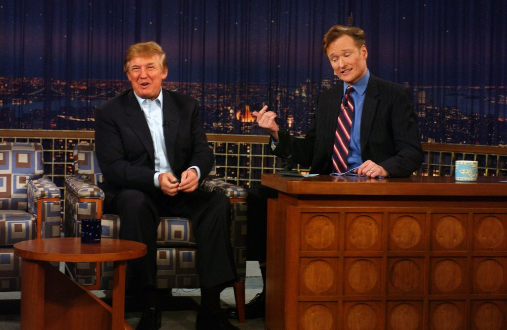 Donald Trump ved Conan O'Brian Show. (Foto: All Over)