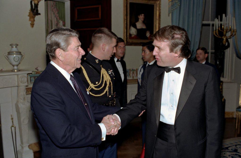 Trump og tidligere præsident Ronald Reagan. Foto: All Over)