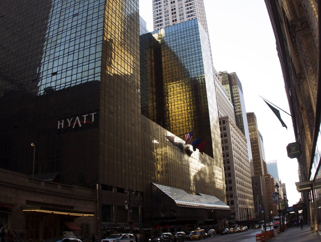 Donald Trumps første store succes – Gran Hyatt Hotel. (Foto: All Over)