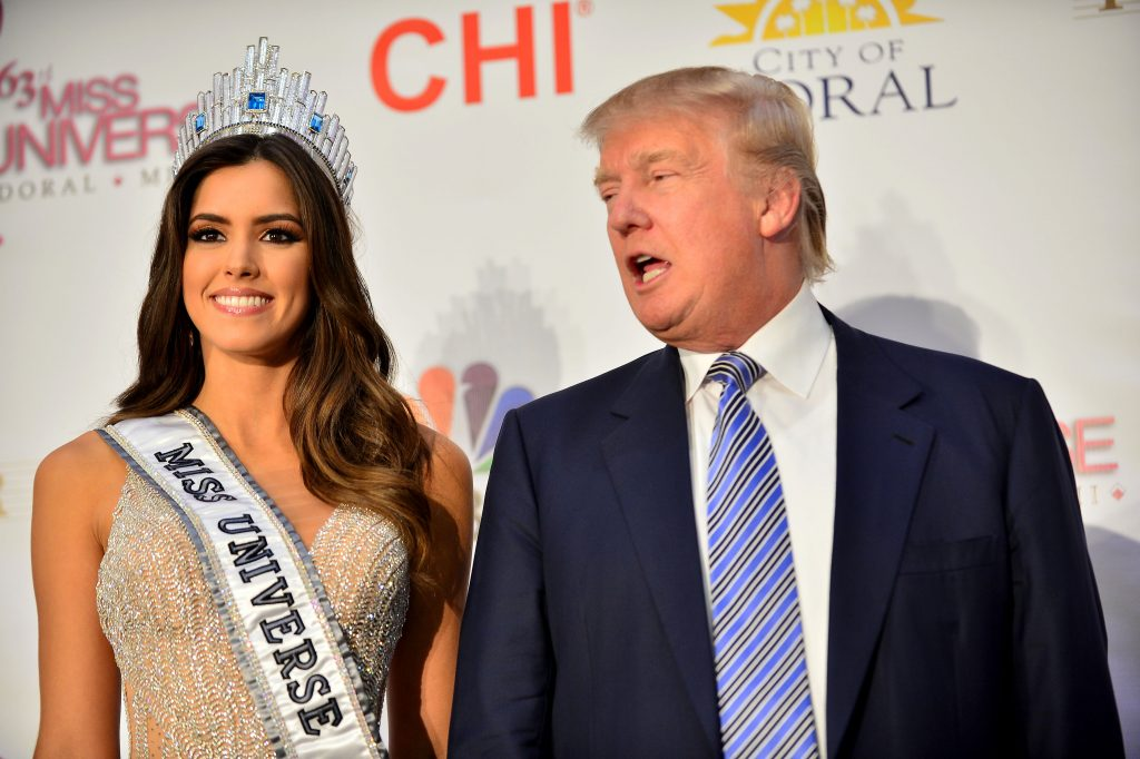 Donald Trump og Miss Universe i 2015. Foto: All Over)