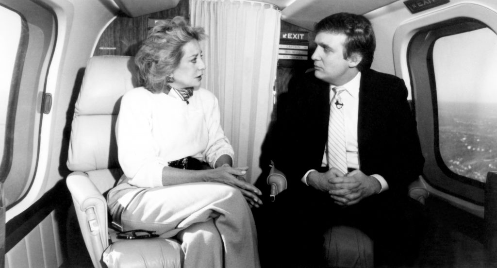 Dpnald Trump og Barbara Walters i 1987. (Foto: All Over)