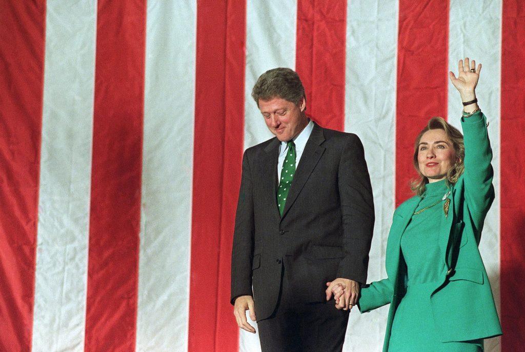 Bill og Hillary var en pakkeløsning, da de gik til valg i 1992. (Foto: Polfoto)