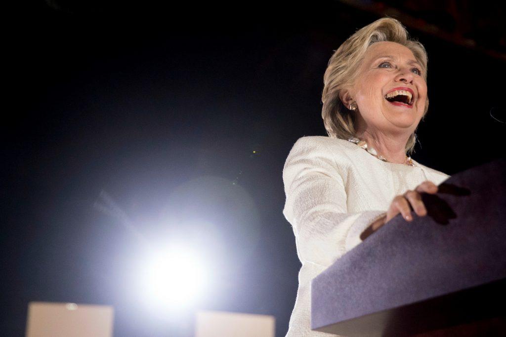 Clinton holder tale under valgkampen i 2016. (Foto: Polfoto)