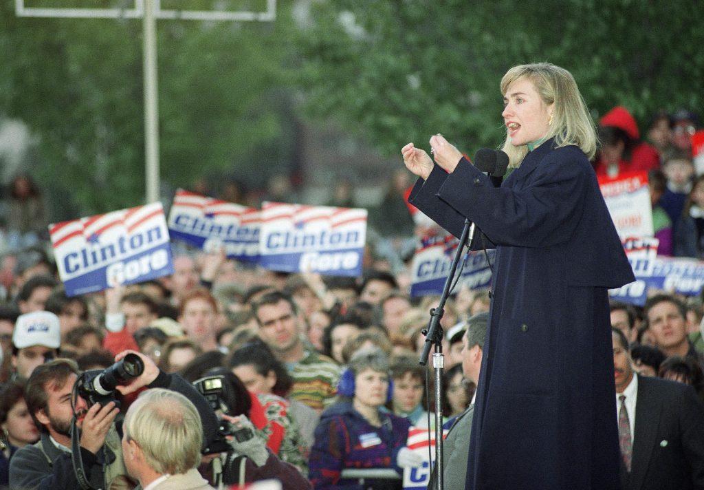 Allerede fra hun var ung var hun en opsigtvækkende taleholder. Her i 1992. Foto: Polfoto)
