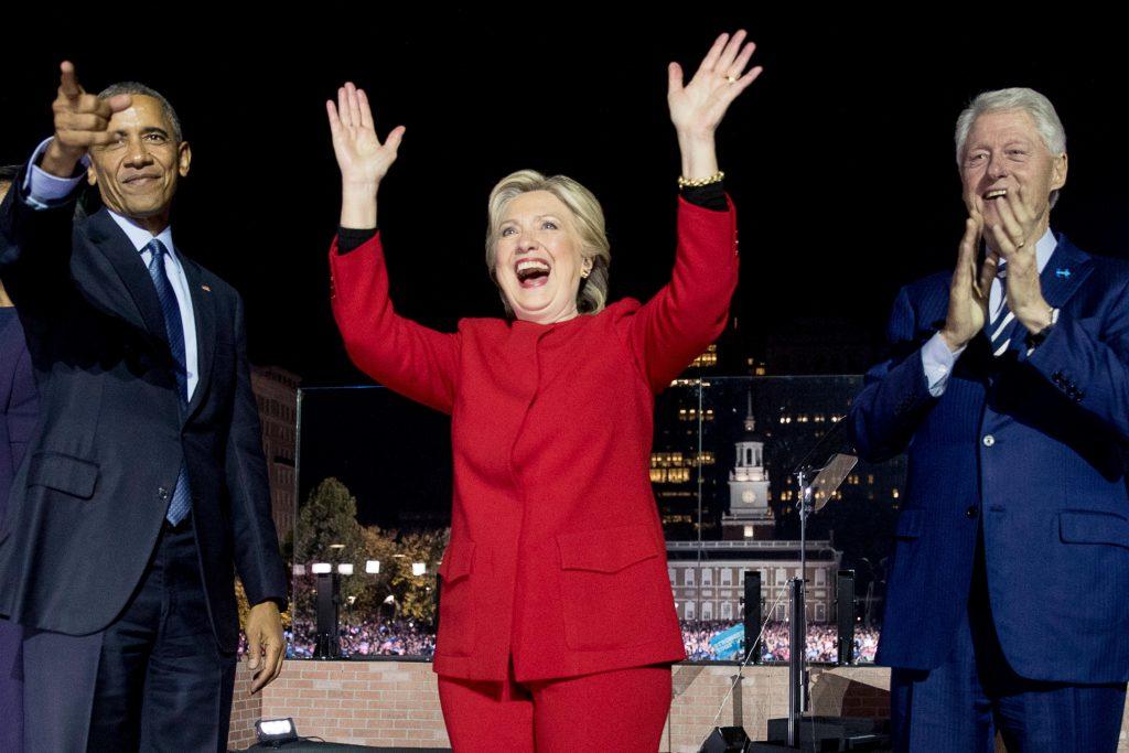 Hillary Clinton få dage før valget. Foto: Polfoto)