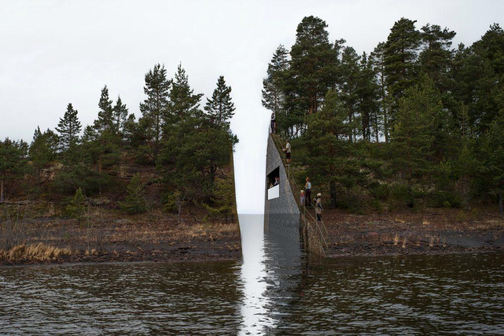 Det er dette mindesmærke nordmændene strides om. (Foto: Polfoto)