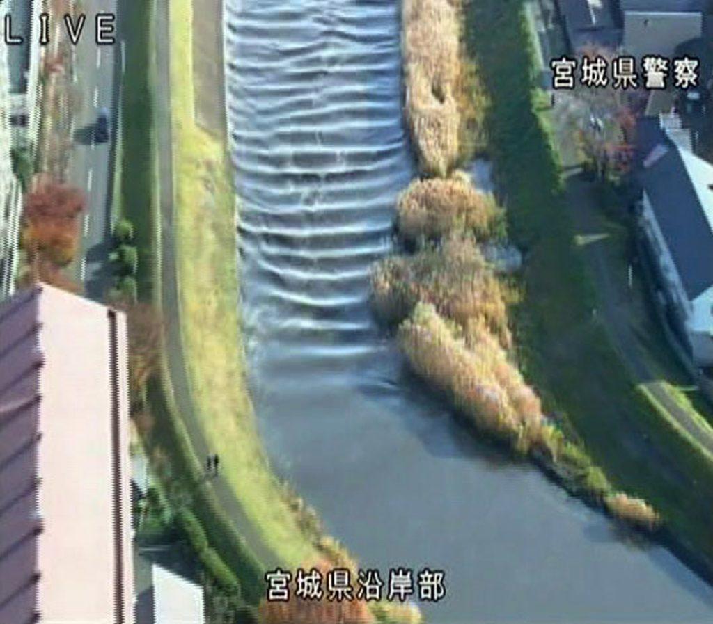 Japan rammes af kraftigt jordskælv. Du kan se rystelserne i vandet. Foto: Polfoto)
