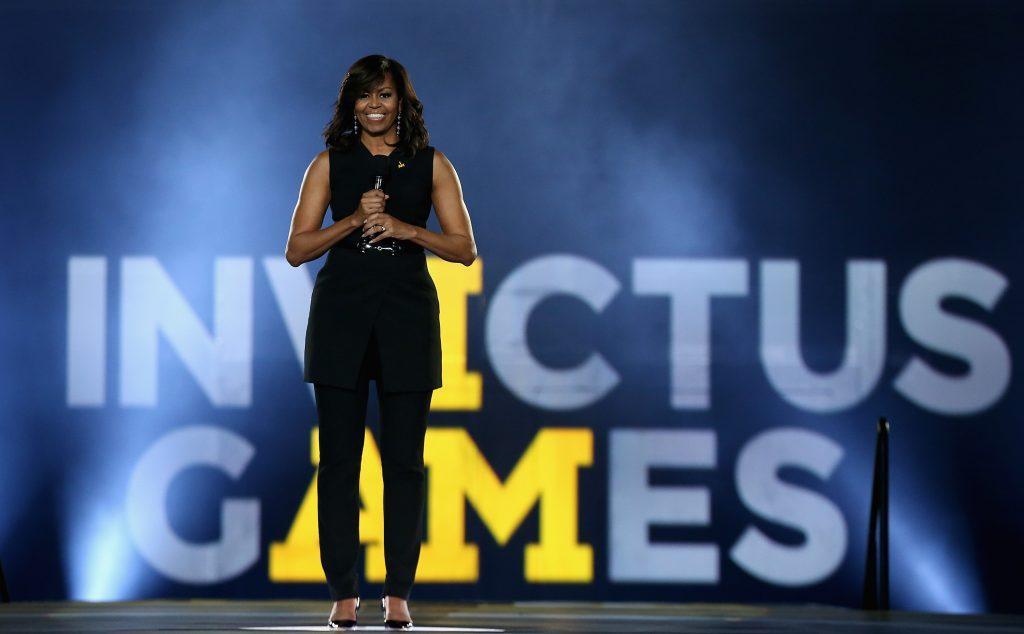 Michelle Obama til Invictus Games i 2016. (Foto: All Over)