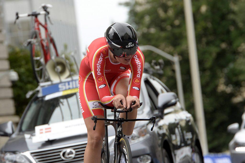 Bjarne Riis vil satse på kvindecykling. Her ses danskeren Pernille Mathiesen, der er med på kvindeholdet. Foto: All Over)