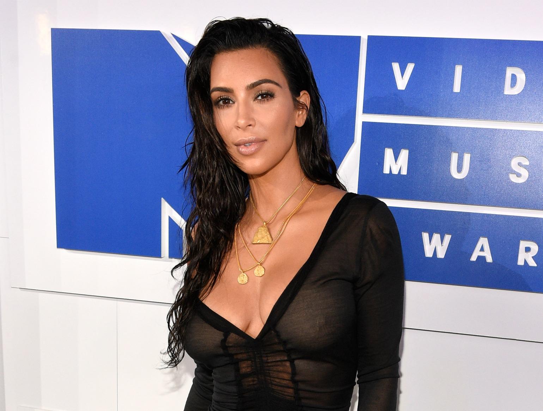 Kim Kardashian West ankommer til MTV (Foto:Polfoto)