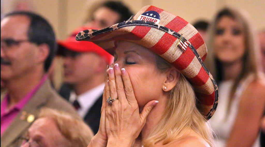 Republikanerne var også præget af en nervøs stemning. (Foto: Polfoto)