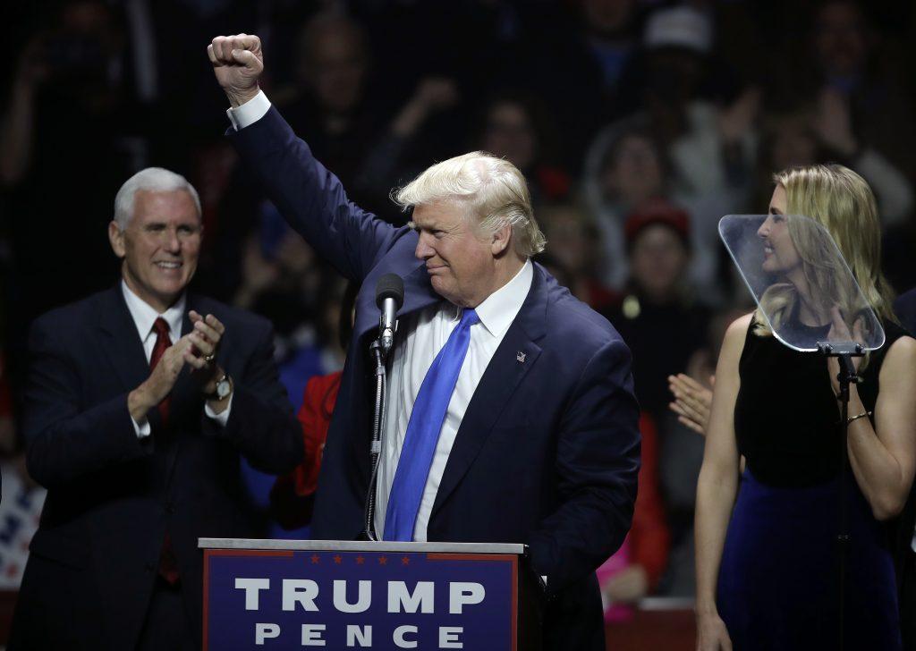 Donald Trump et par dage før valget. Foto: Polfoto)