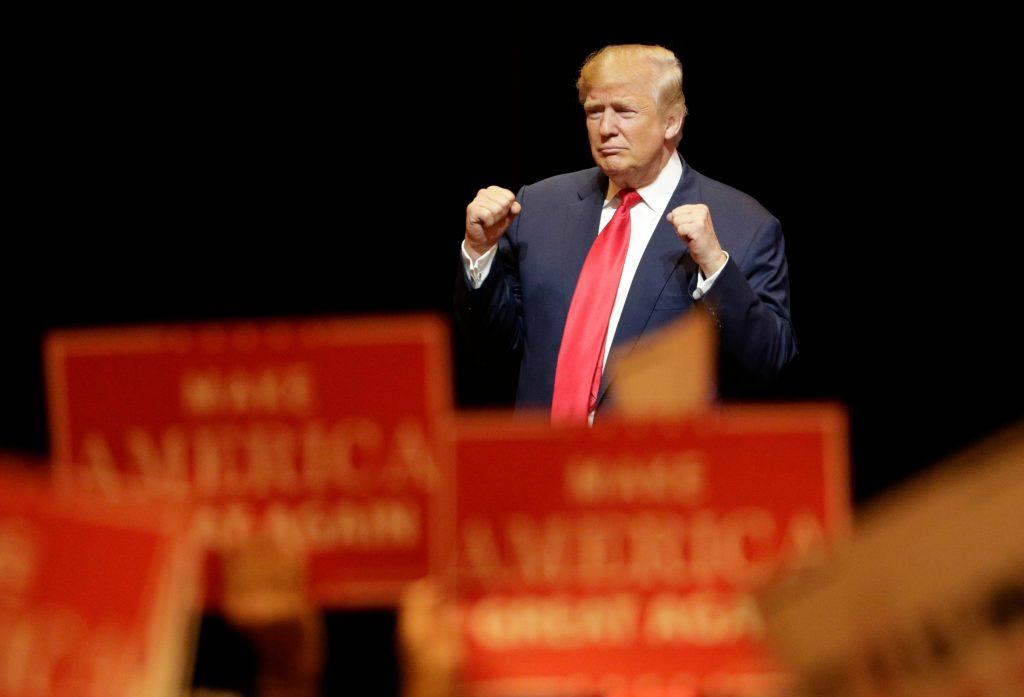 Trump til vælgerarrangement i 2016. (Foto: Polfoto)