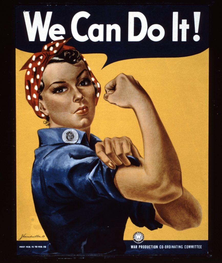 kvinder, kvindekamp, ligestilling, arbejdsmarked, seje kvinder, we can do it
