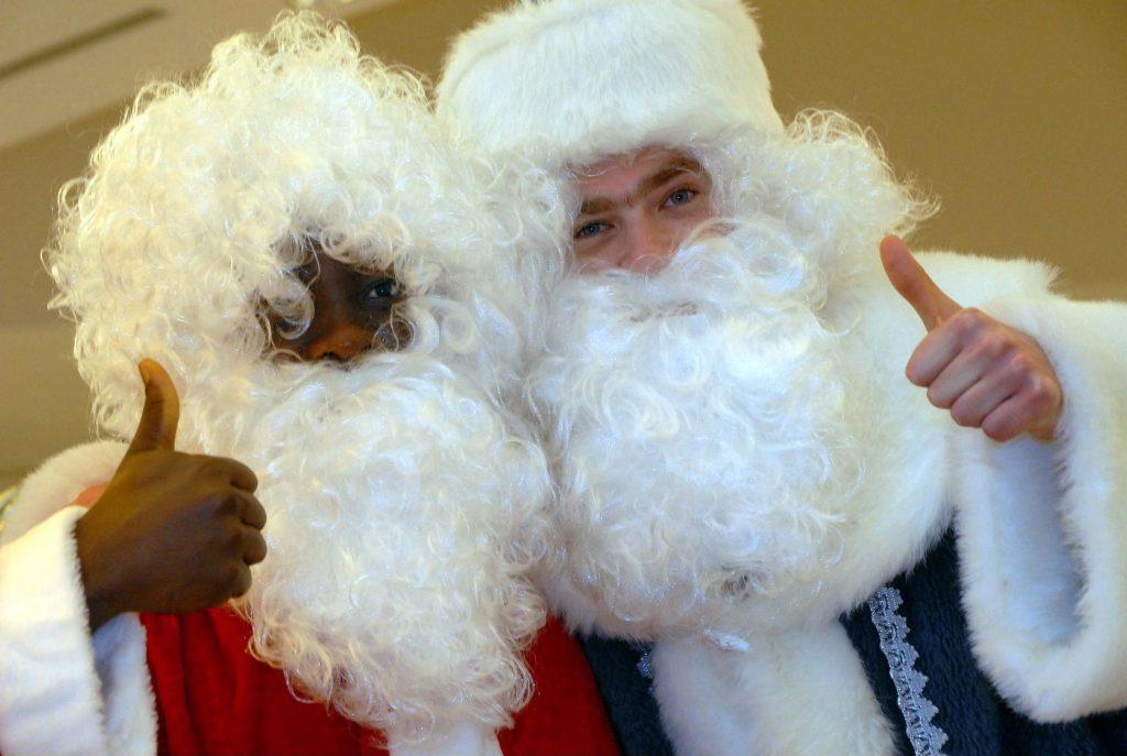 Supermarked vælger sort julemand
