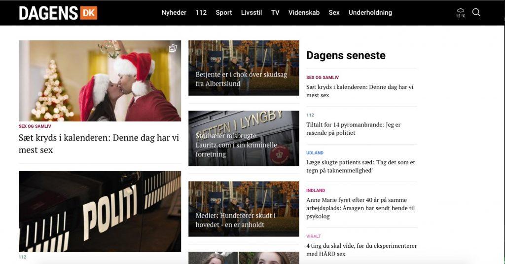 Dagens.dk er gået konkurs. (Foto: Screendump)