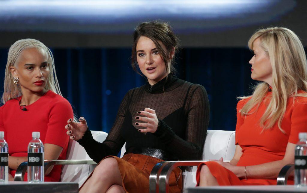 Zoe Kravitz, Shailene Woodley og Reese Witherspoon på Big Little Lies' pressetur. (Foto: All Over)