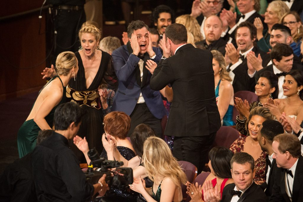 Oscars: Sådan så Sunrise Coigney og Mark Ruffalo ud, d det sidste år blev annonceret, at Spotlight vandt prisen som Bedste Film til Oscar-uddelingen. (Foto: All Over)