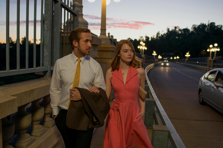 Oscars nomineret 2017 La La Land Emma Stone og Ryan Gosling (Foto: All Over)