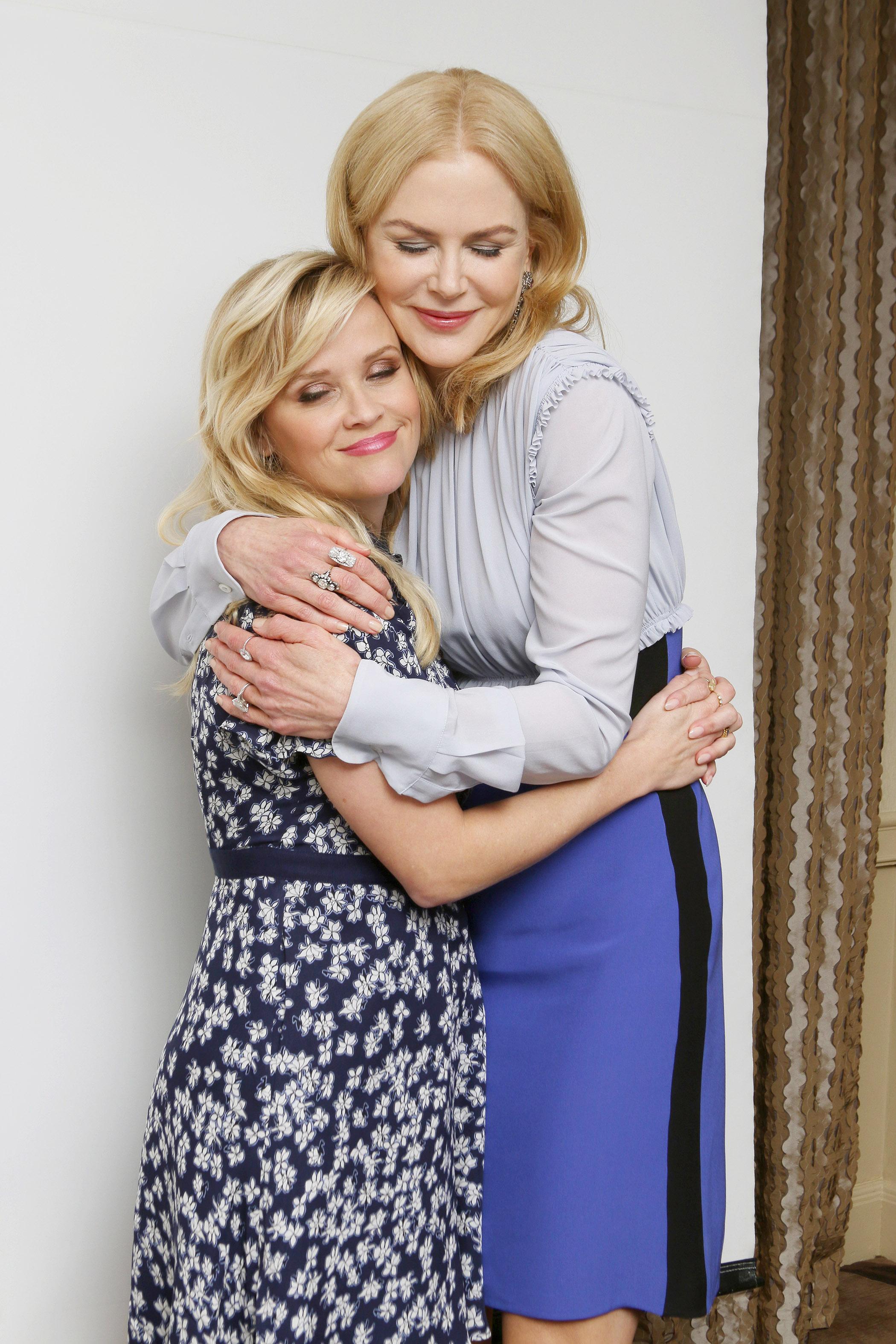 Reese Witherspoon og Nicole Kidman har både roller og er executive producere på Big Little Lies. (Foto: All Over)