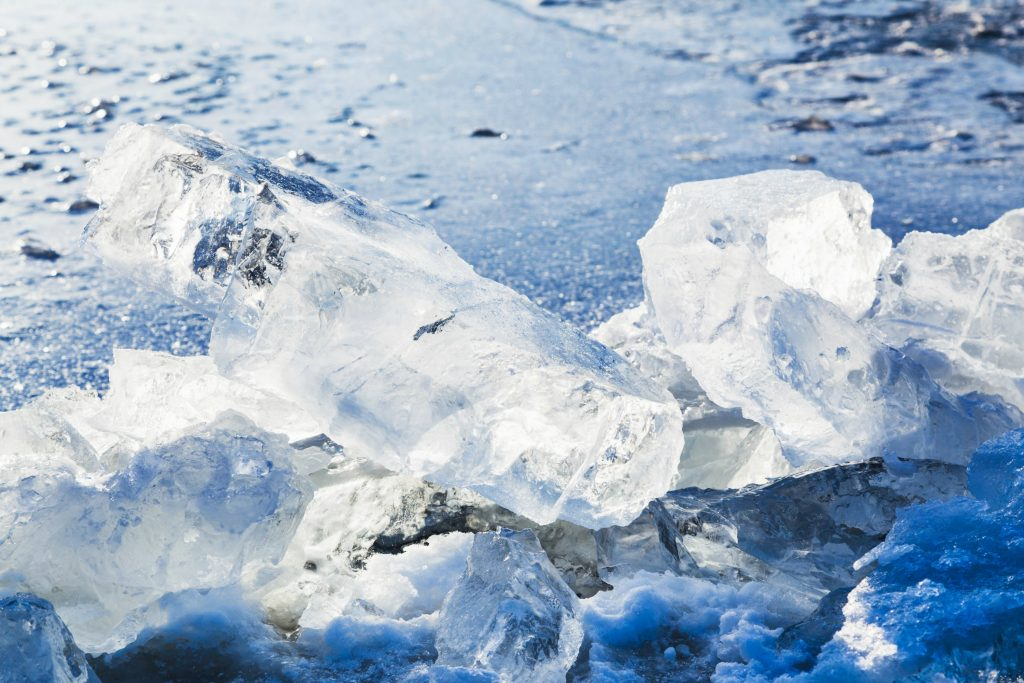 is, flod, vinter, koldt, vand, isvand,