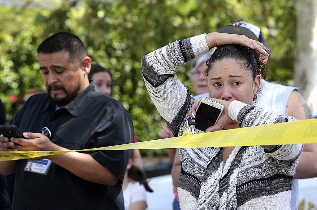 skoleskyderi, skyderi, død, såret, ofre, børn, lærere, vold, krimi, usa, californien, san bernardino