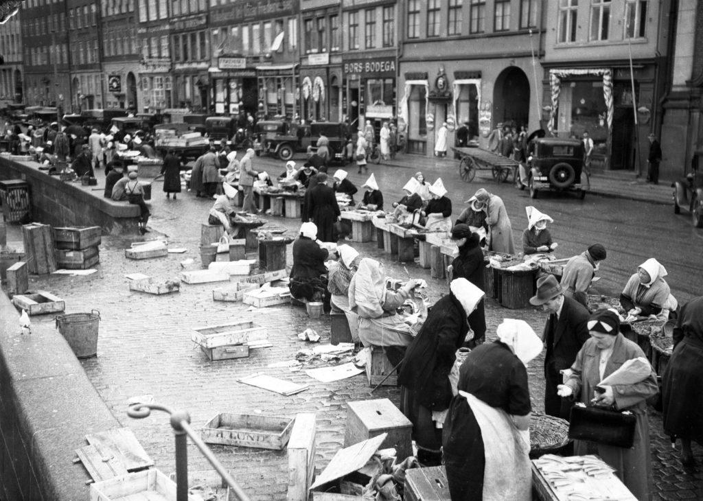 foto, billeder, billedarkiv, historie, kultur, københavn, 1930, torvet, indland, billedarkiver