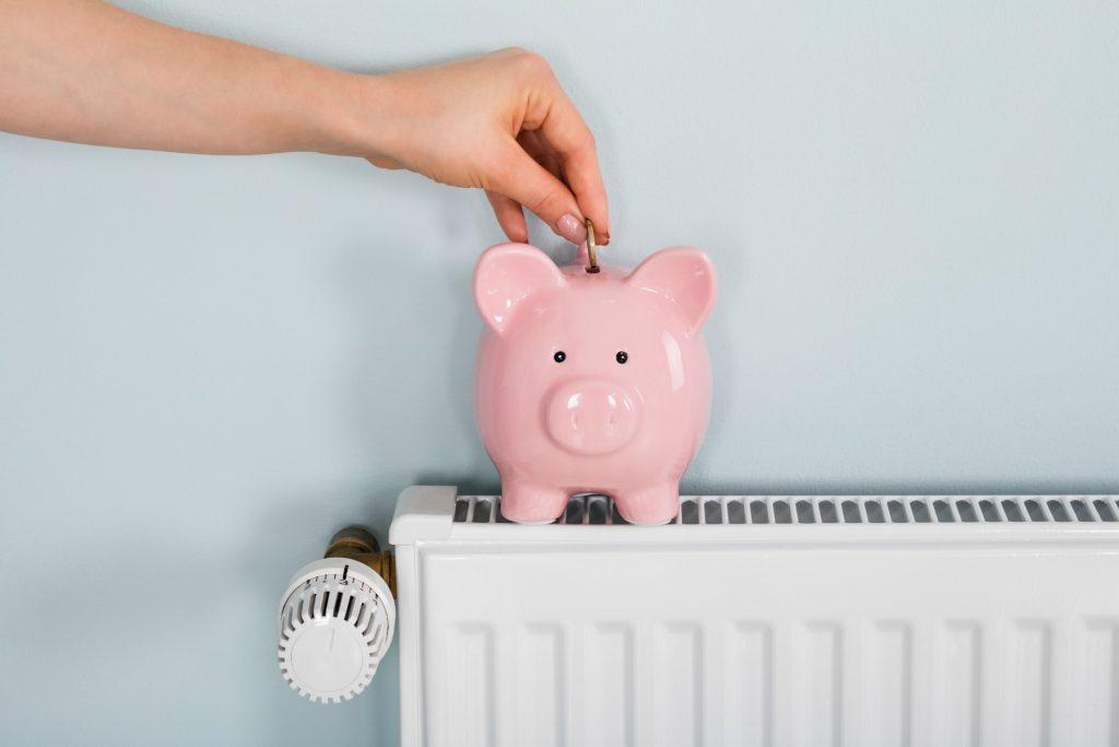 opsparing, sparegris, radiator, varmeregning, varmeforbrug, opsparingen