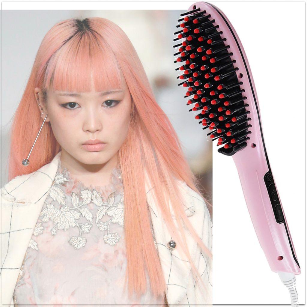 glattebørste, emerio, glat hår, pink hår