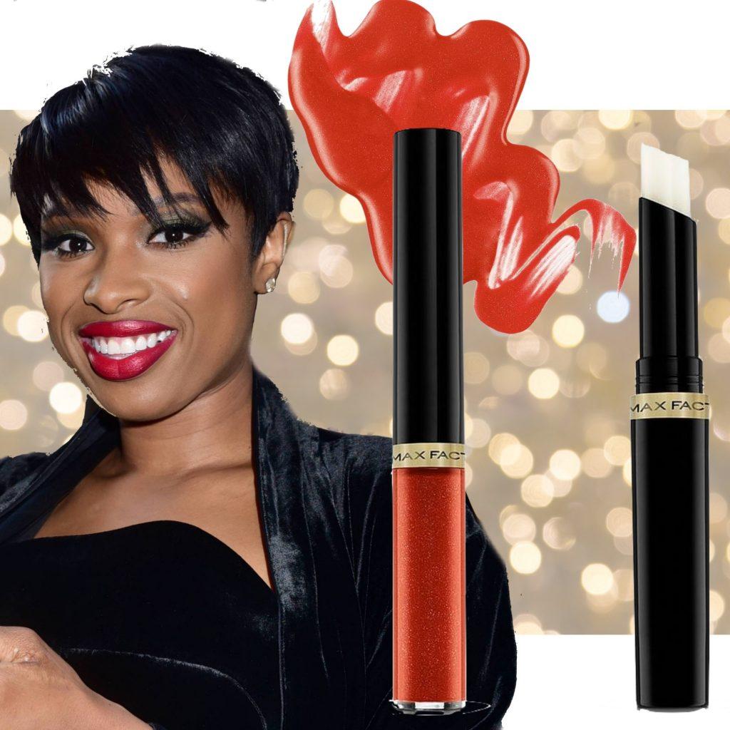 max factor lipfinity læbestift jennifer hudson shimmer glimmer rød