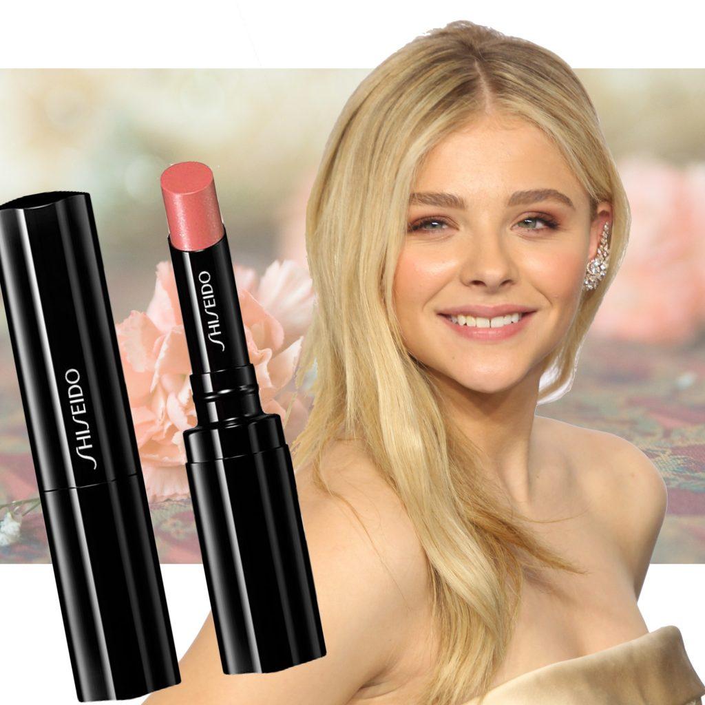 peach fersken læbestift shiseido chloe moretz