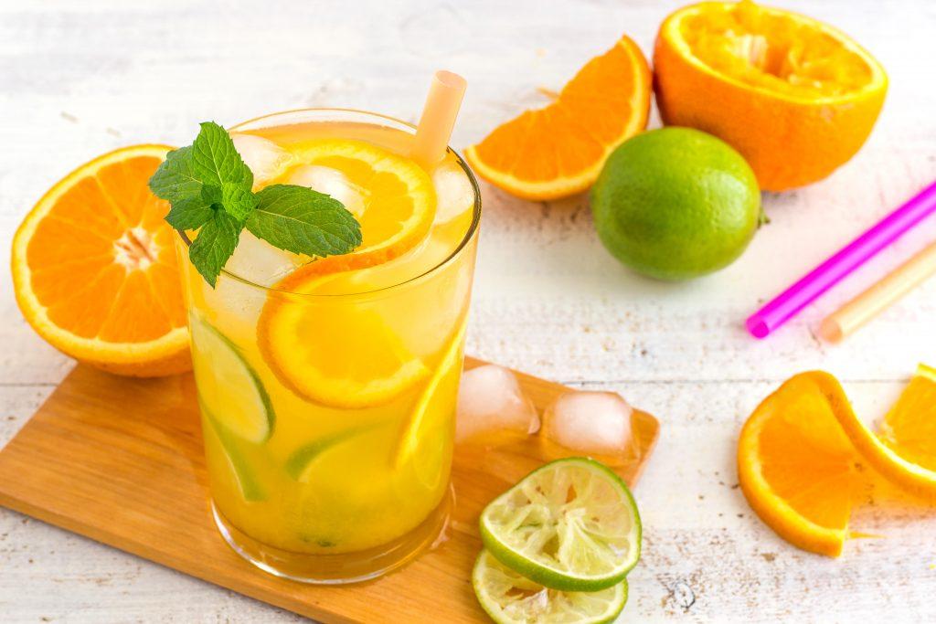 Orange Mojito Cocktail
