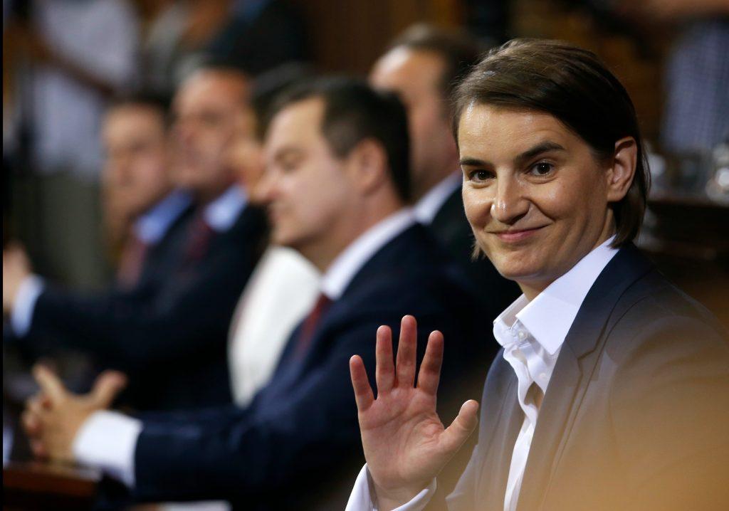 politik, udland, ana brbic, homoseksuel, kvinde, premierminister, histore, første, serbien, eu